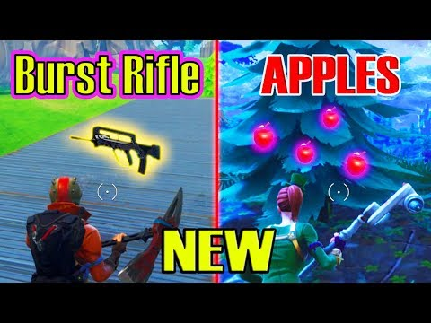 *NEW* Apples & Burst Assult Rifle (Fortnite Update) (4.2 Patch Notes)