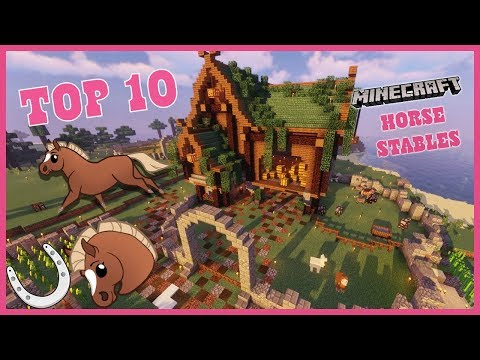 Top 10 Best Horse Stables Design in MineCraft 🐴 HorseCraft Server