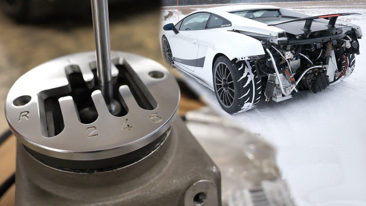 Lamborghini Conversion To 6 Speed Manual Gated Transmission Youtube