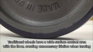 Ergo-X Heavy Duty Ergonomic Industrial Caster Wheels