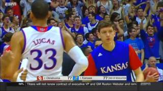 Oklahoma vs Kansas highlights (January 4th, 2016) HD