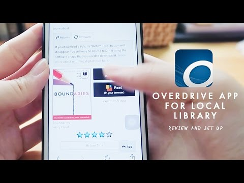 Borrowing Ebooks From National Library   OVERDRIVE APP