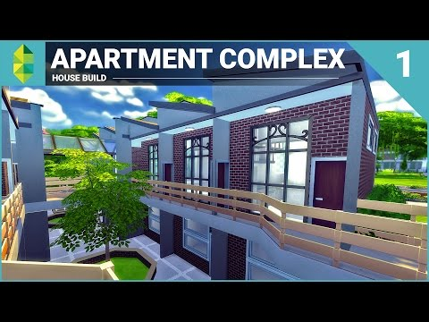 The Sims 4 House Building - Apartment Complex (Part 1)