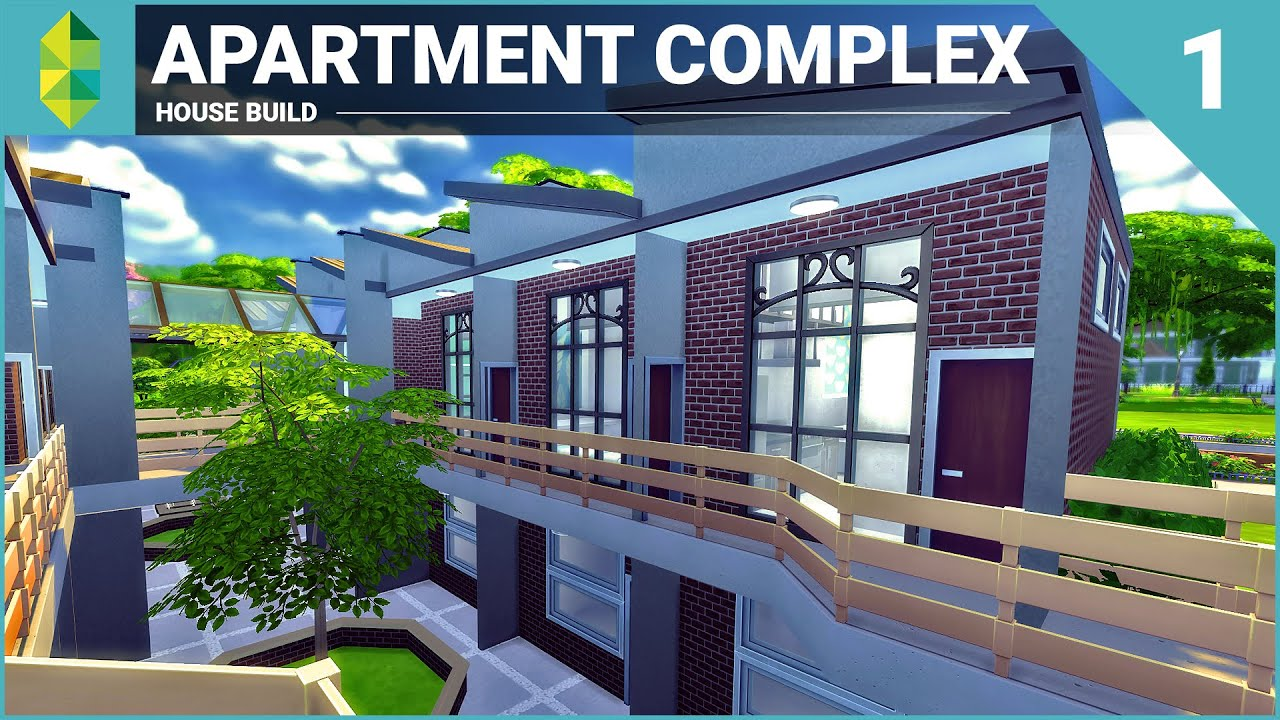 The Sims 4 House Building Apartment Complex Part 1 Youtube