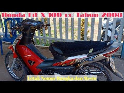 Honda Fit X 100 Cc Tahun 2008 Letak Nomor Rangka Dan Mesin