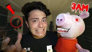 THIS HAUNTED PEPPA PIG DOLL COMES TO LIFE AT 3 AM!! (CAUGHT MOVING)