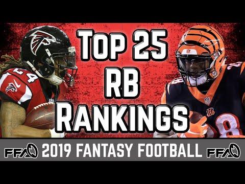 Running Back Rankings - 2019 Fantasy Football