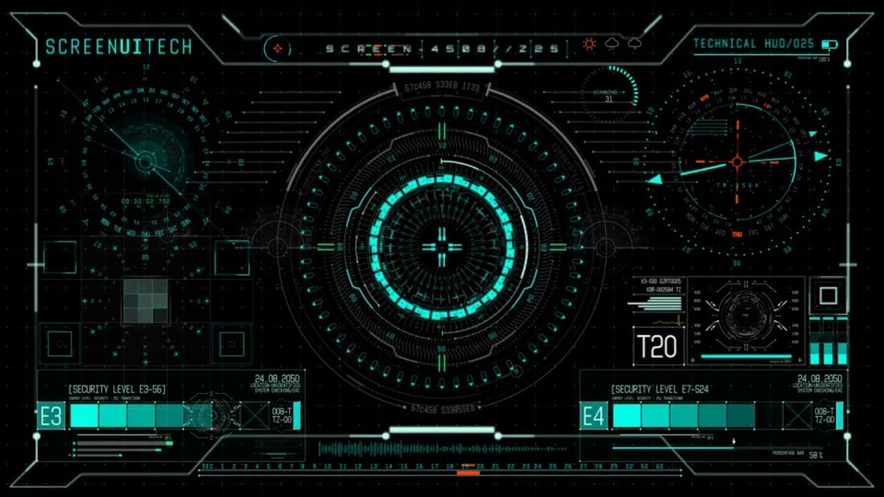 Animation Wallpaper For Pc 3d Download 700 Hud Ui Design Elements Technology After Effects