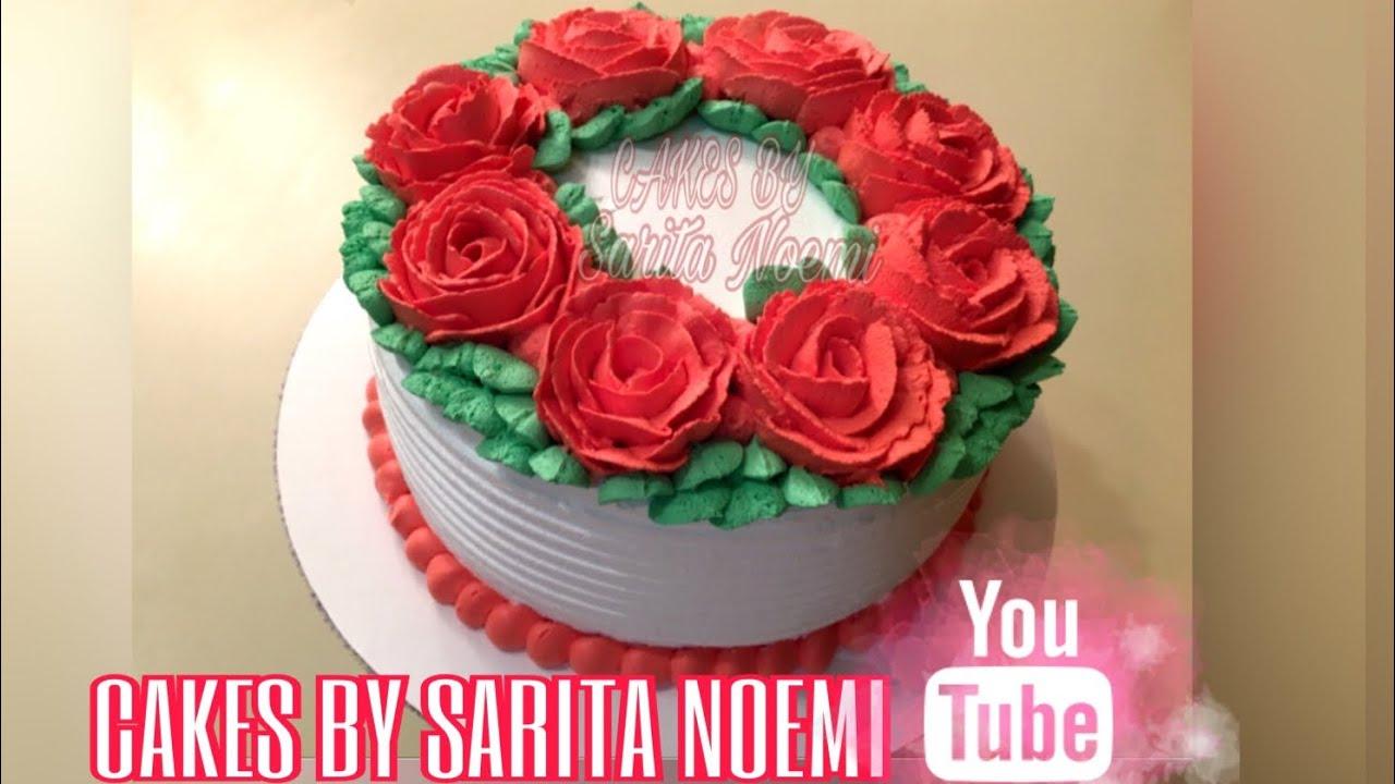 Decoracion Sencilla Con Rosas Pastel Tres Leches Para Mujer Cake For Girl Woman Solo Ideas