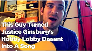 ginsburg s hobby lobby dissent   song a day 2007