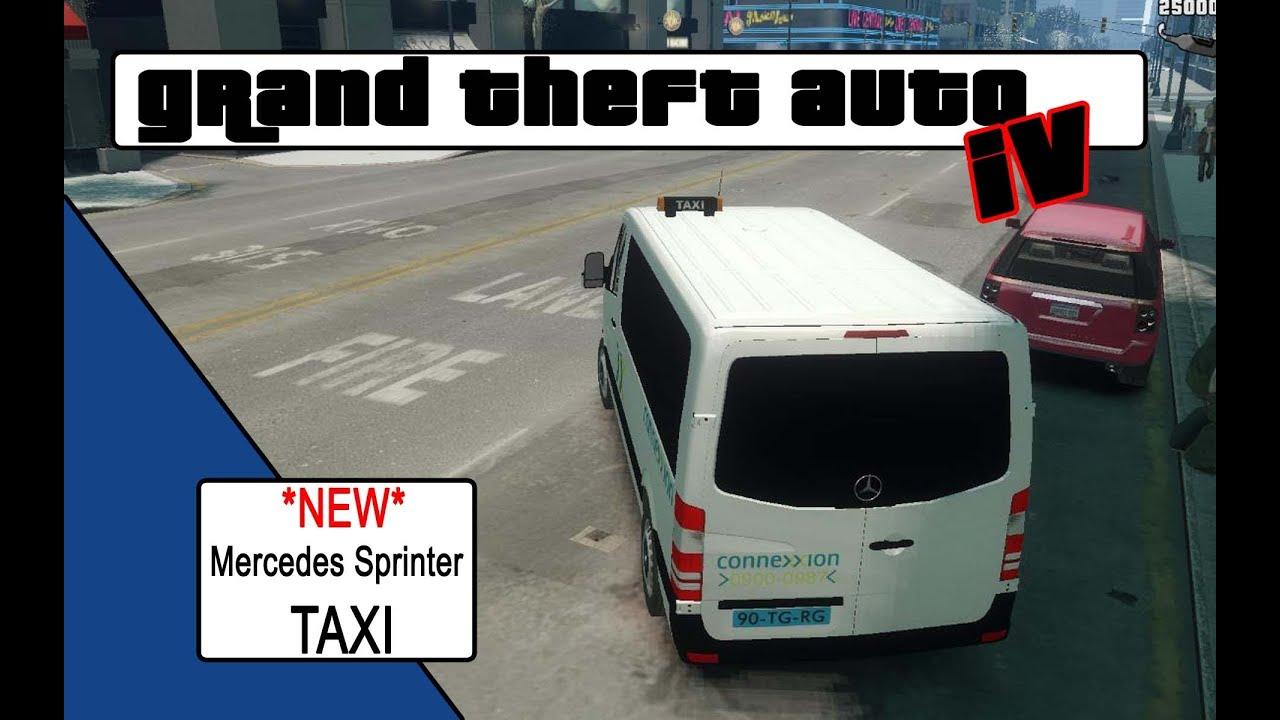 Gta4 Mercedes Sprinter Taxi Nl Youtube