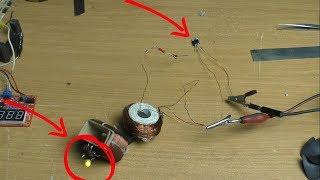 Необычный качер который работает от одного транзистора без базы вам это не покажут.