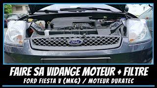 Ford Fiesta Mk6 - Comment faire une vidange moteur 1.3L Duratec 🚧