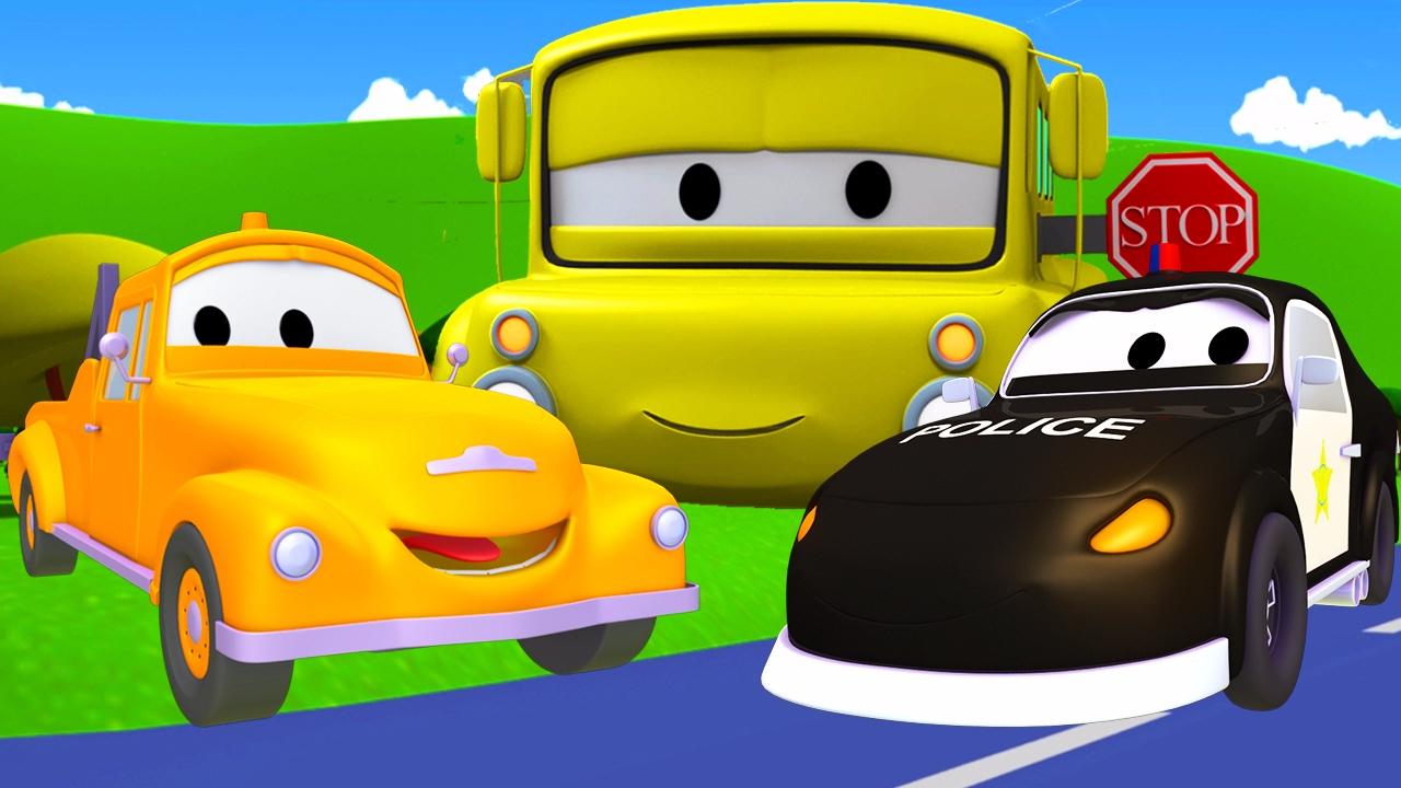 автомобильный город мультфильм