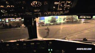 Boeing 737 cockpit takeoff