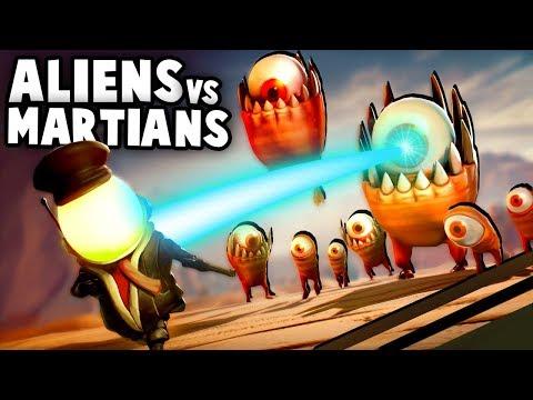 ALIEN INVASION ON MARS! Aliens vs Martian Army - (Mars or Die! Gameplay Part 1)