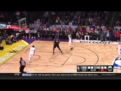 LeBron James Bounce Pass Alley Oop to Anthony Davis (2018 NBA All Star Game)