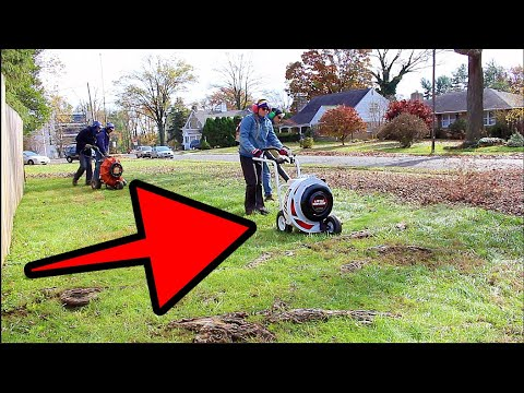 Leaf Cleanup With The Little Wonder Optimax Push Blower