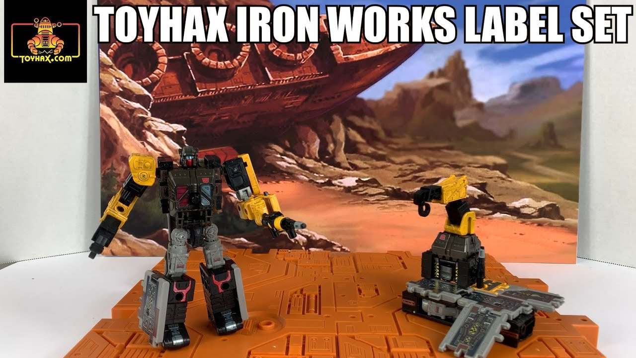 Toyhax Transformers Earthrise Ironworks Label Set Review By Enewtabie