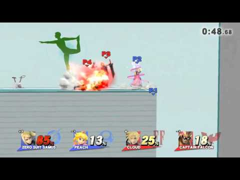 Peach and ZSS are a great team matchup, but this Falcon and Cloud are horrible