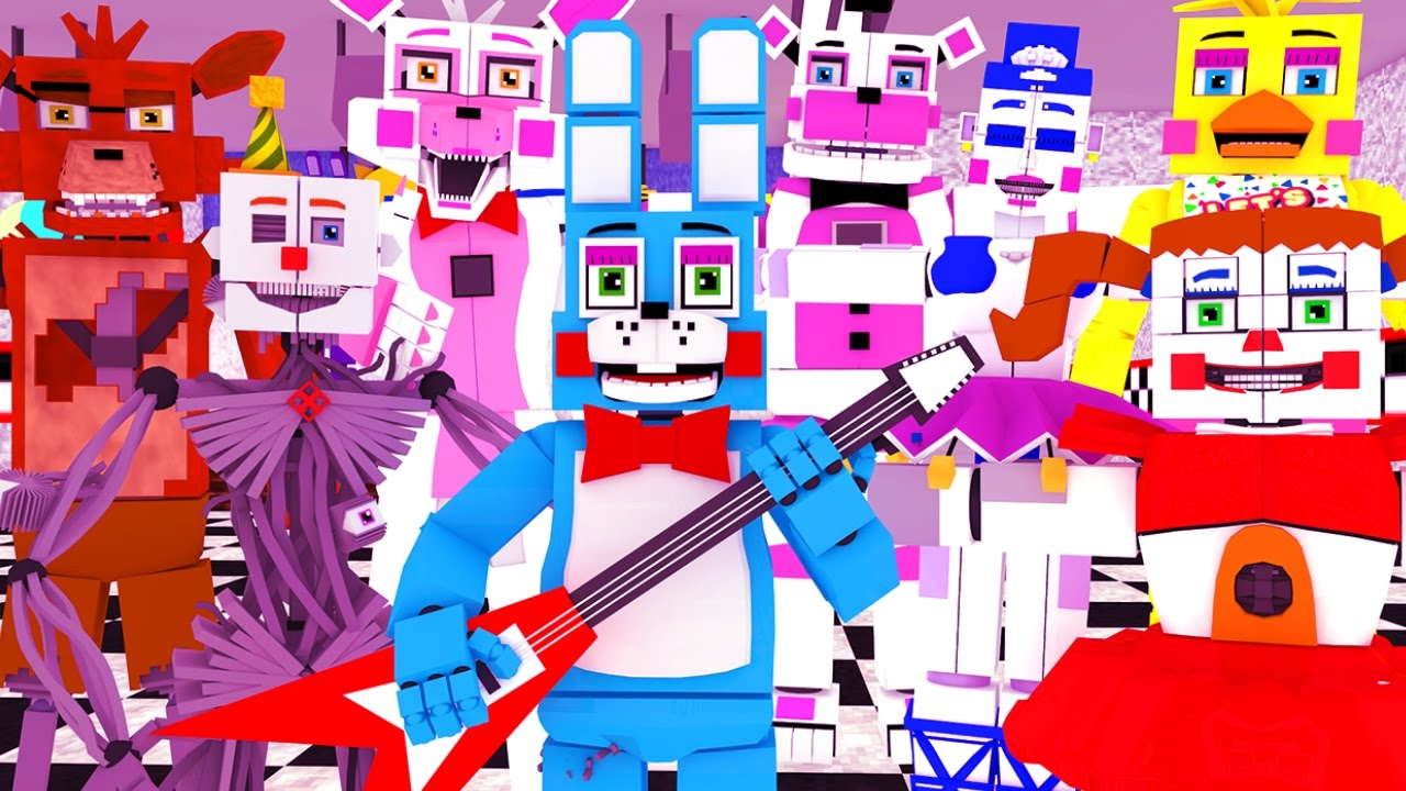 Minecraft FNAF Sister Location HIDE AND SEEK TOO MANY