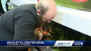 Wholey's lobster grab in the Strip District