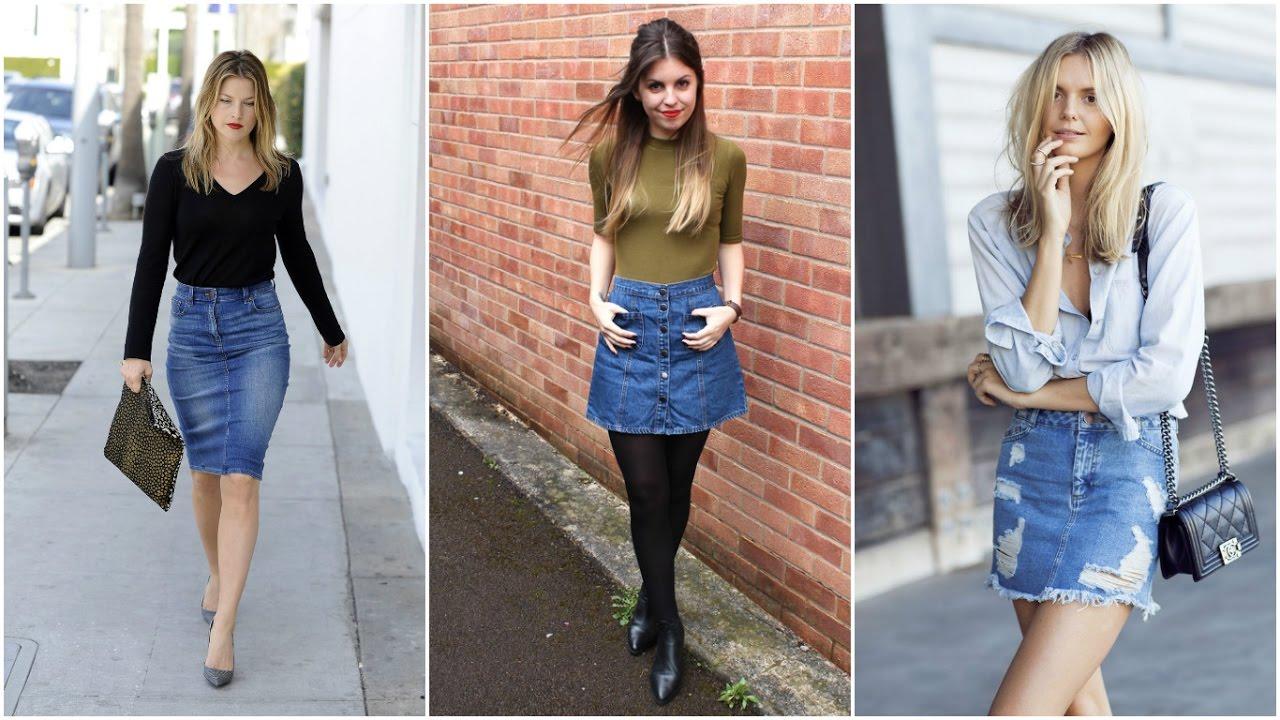 FALDAS DE MEZCLILLA 2018 #Moda #Outfits #Imagenes - YouTube