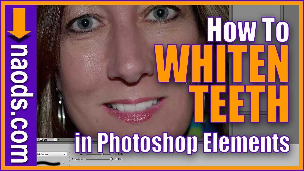 How To Whiten Teeth And Darken Eyelashes In Photoshop Elements 13