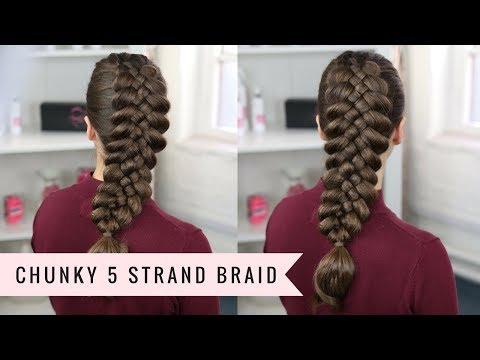 The BIGGEST 5 Strand Braid Ever!😳 by SweetHearts Hair