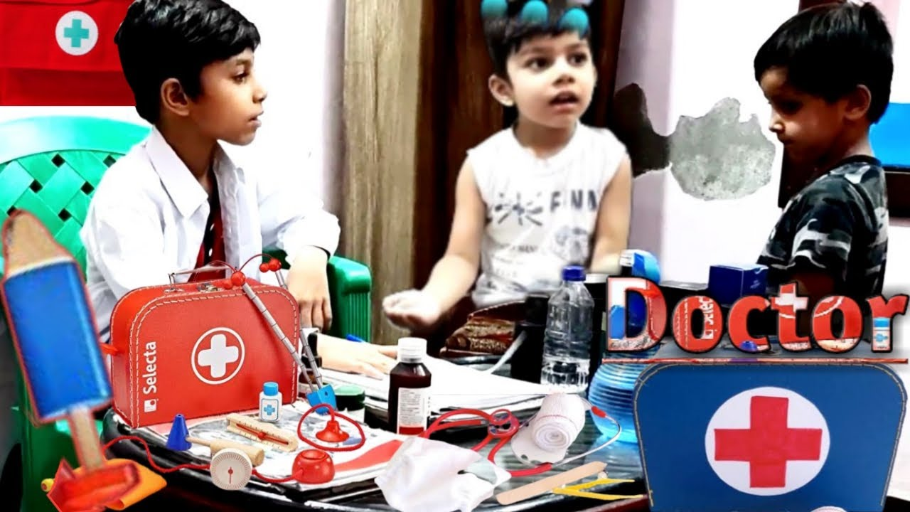 Kids Pretend Play With Doctor Set | Wash Your Hands Story |#LittleMinds