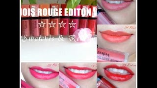 ( SWATCHES + REVIEW) BOURJOIS ROUGE EDITION VELVET (10 shades)