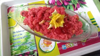 Red velvet sheera recipe/suji ka halwa/my original healthy recipe for snack/ breakfast easy \u0026 quick