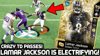 GOLDEN TICKET LAMAR JACKSON IS OVERPOWERED! NASTY JUKES AND TD PASSES! Madden 20