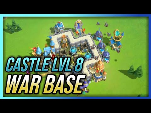 Castle Lvl 8 War Base | Best Defense Strategy | Castle Clash : New Dawn (Layout)