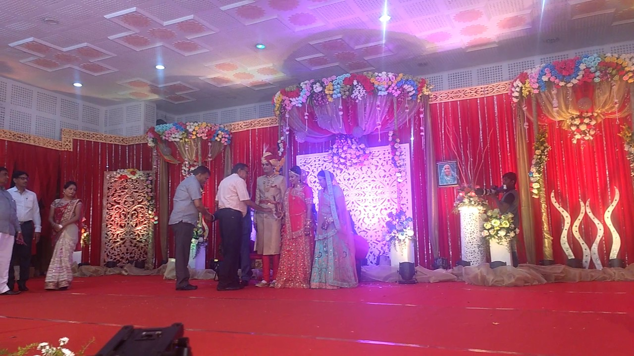 Wedding Reception Stage Decoration Red Theme Youtube