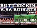 Butt Kickin' 5.56 Bullets - ep3 - 65gr Sierra Game King and CFE 223