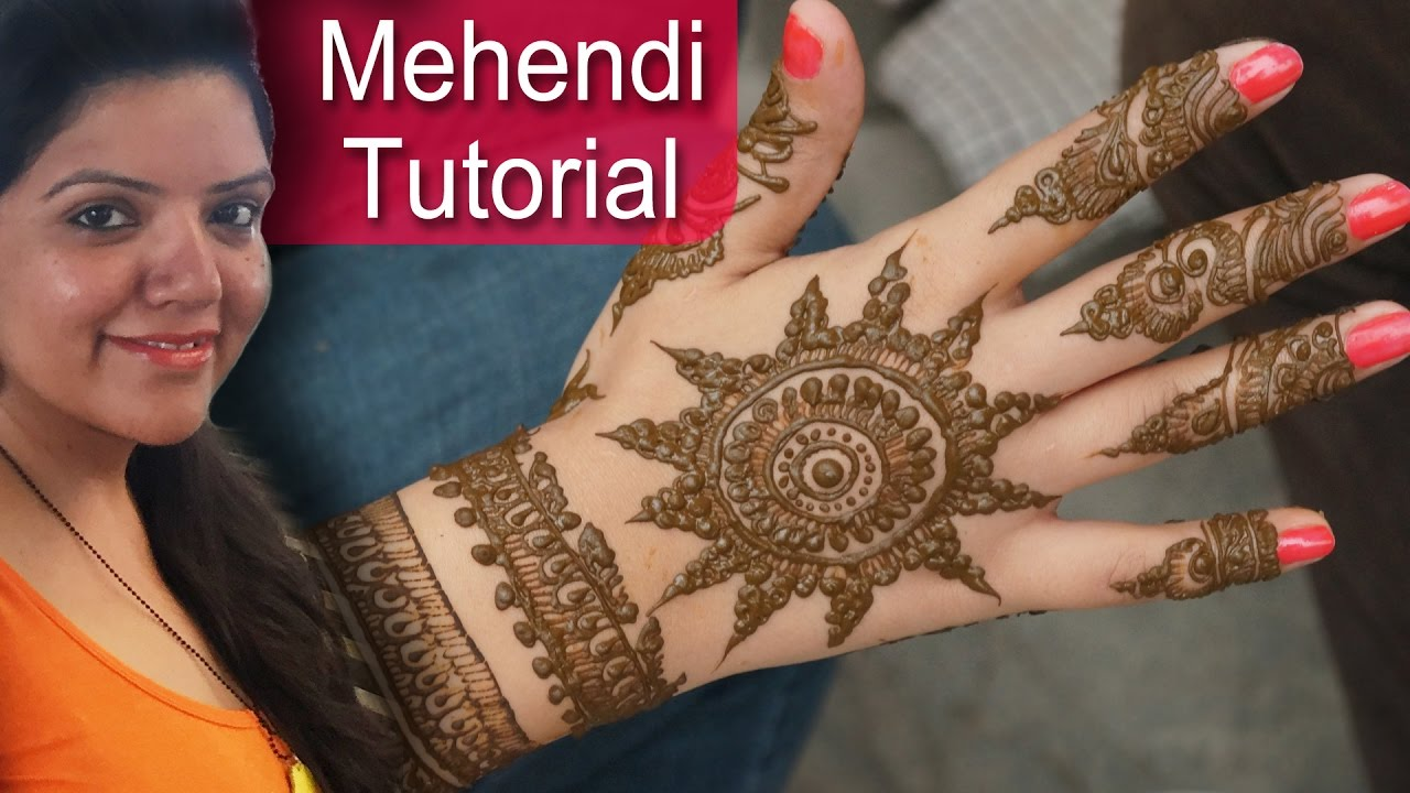 Mehndi Design Tutorial Creative Henna Designs For Front Back Of