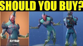 "Fortnite New ""Flytrap Skin"" Should You BUY IT? Emote/Bling Showcase"