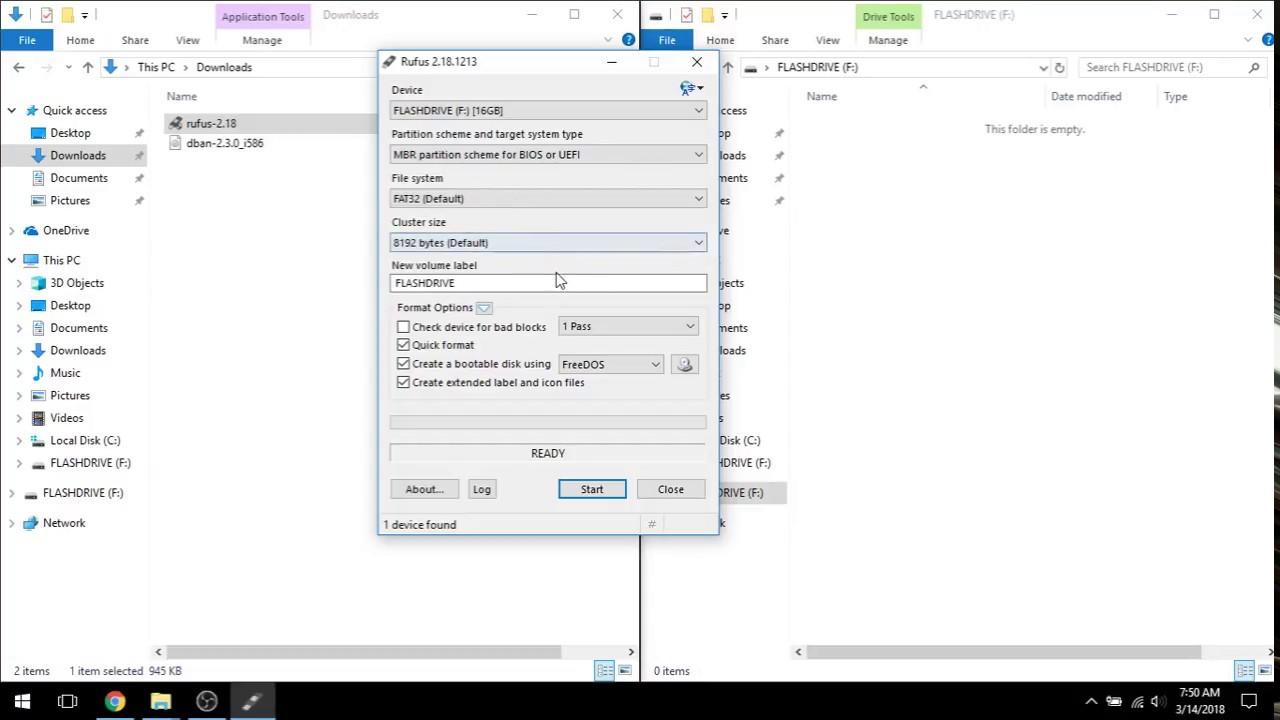 Creating DBAN Bootable Flashdrive (Darik's Boot and Nuke)