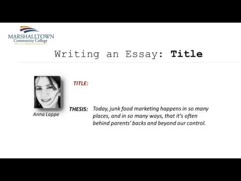 Module 08: Creating an Essay Title