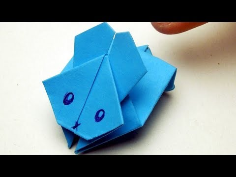 Как сделать прыгающего зайца из бумаги. Оригами игрушка прыгающий заяц из бумаги