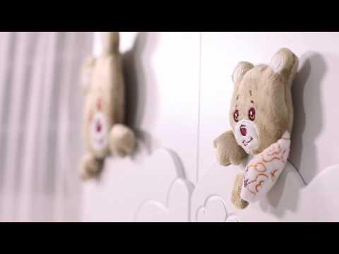 Кровать Baby Expert Abbracci by Trudi, витринный экземпляр. Видео №1
