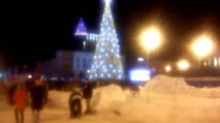 Lenina Square, Voronezh, New Year celebration, 2014-2015