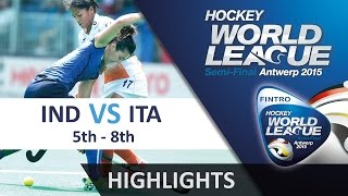 India v Italy Match Highlights - Antwerp Women