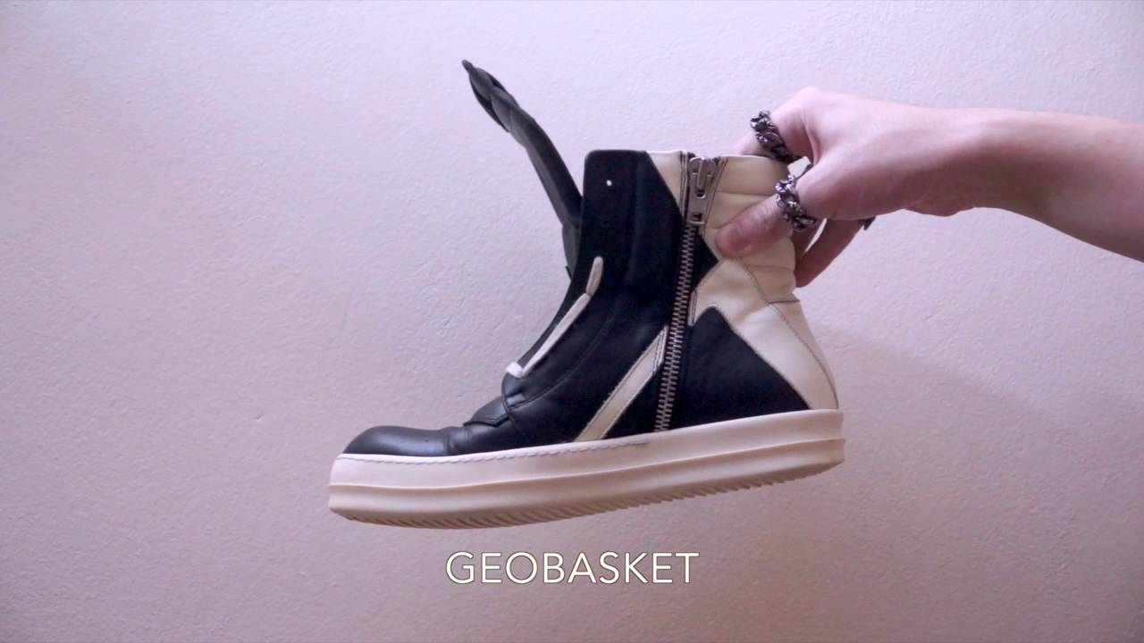 Review   Rick Owens Geobasket and Ramones Sneakers (Part 1) - YouTube ccc616ebc