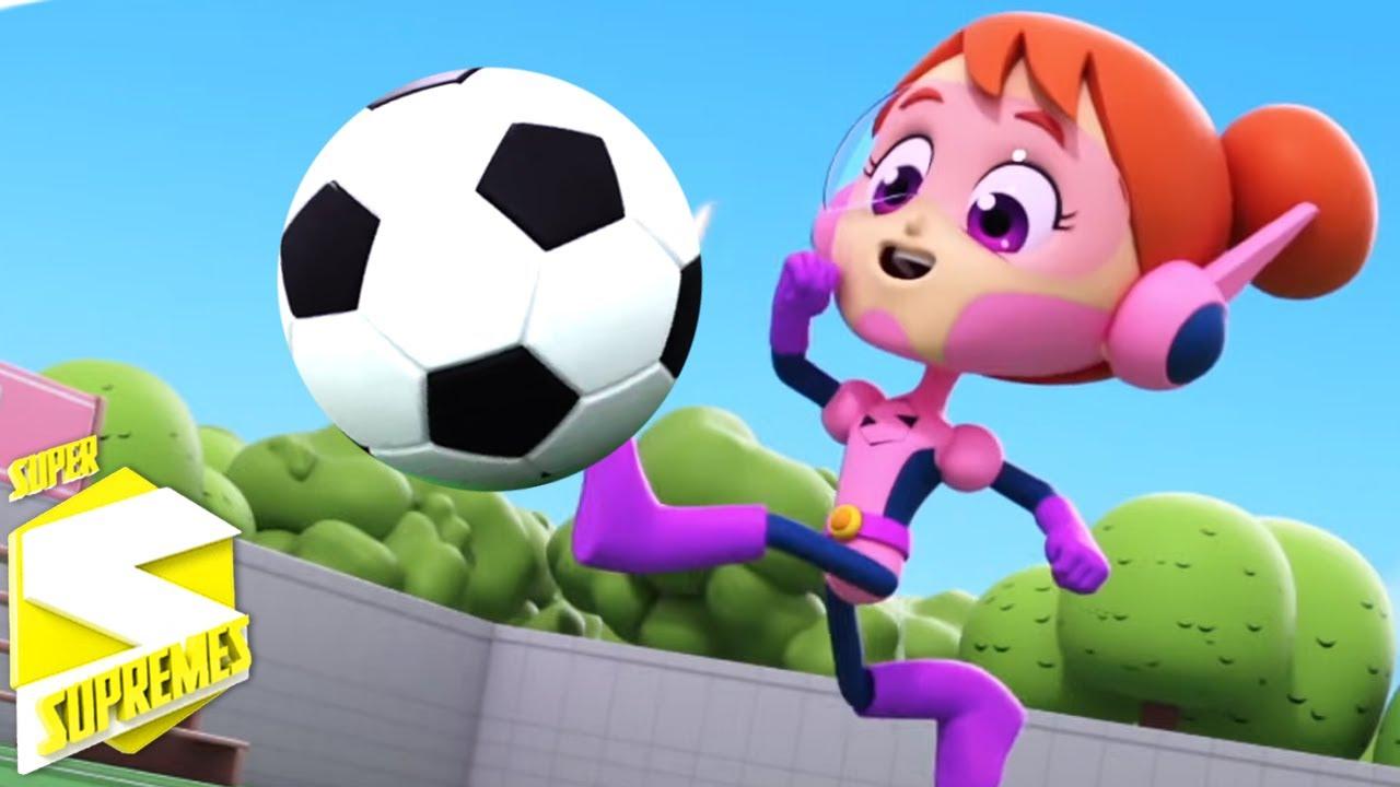 Cancion futbol | Videos para bebes  | Educación | Super Supremes Español | Dibujos animados