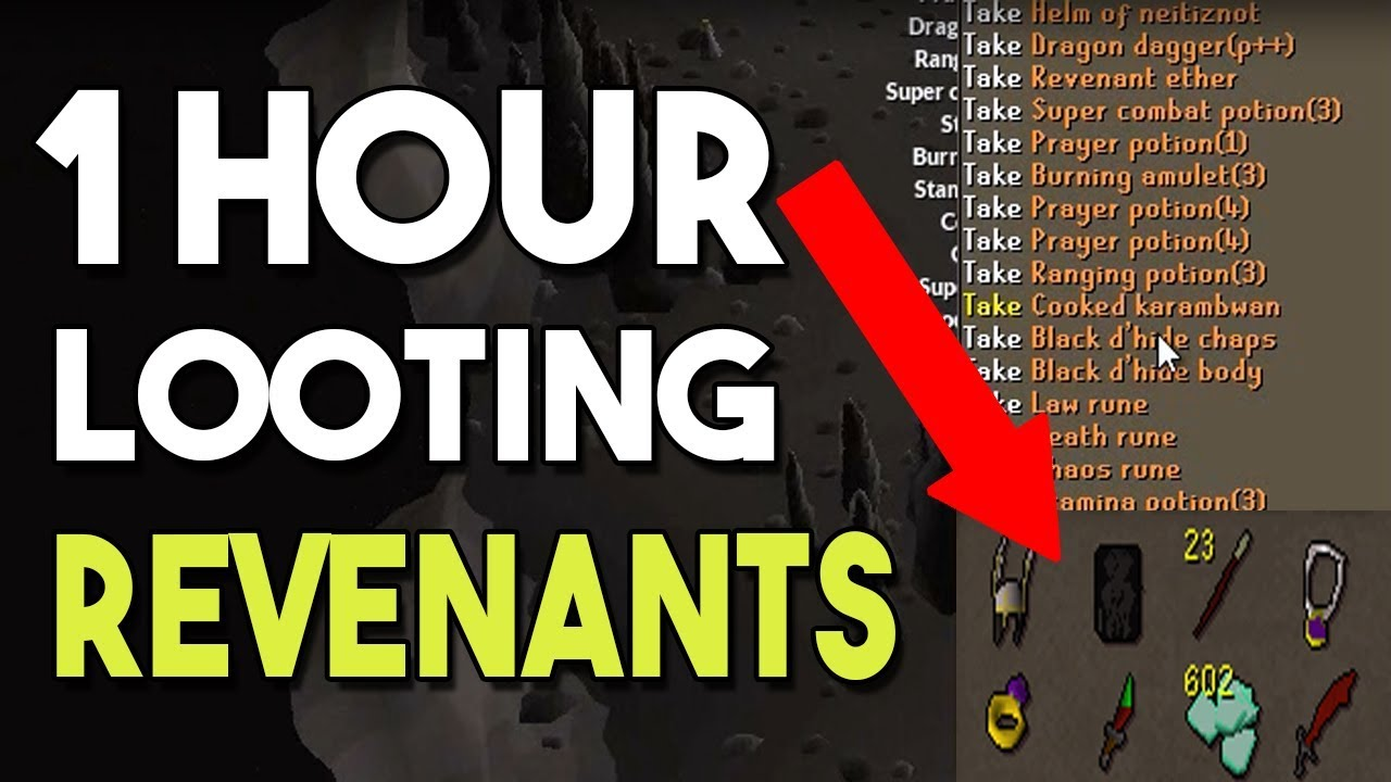 Looting Drops in the Revenant Caves for 1 Hour - Easy Low Level Money  Maker! [OSRS]