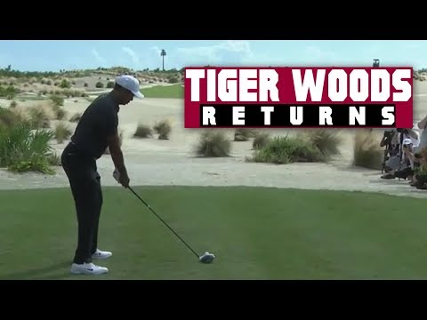 Tiger Woods Tees Off - The Return