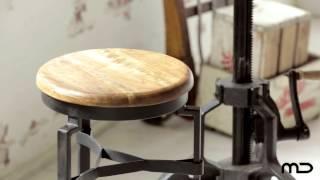 Adjustable Iron Round Meeting Table  - Milan Direct