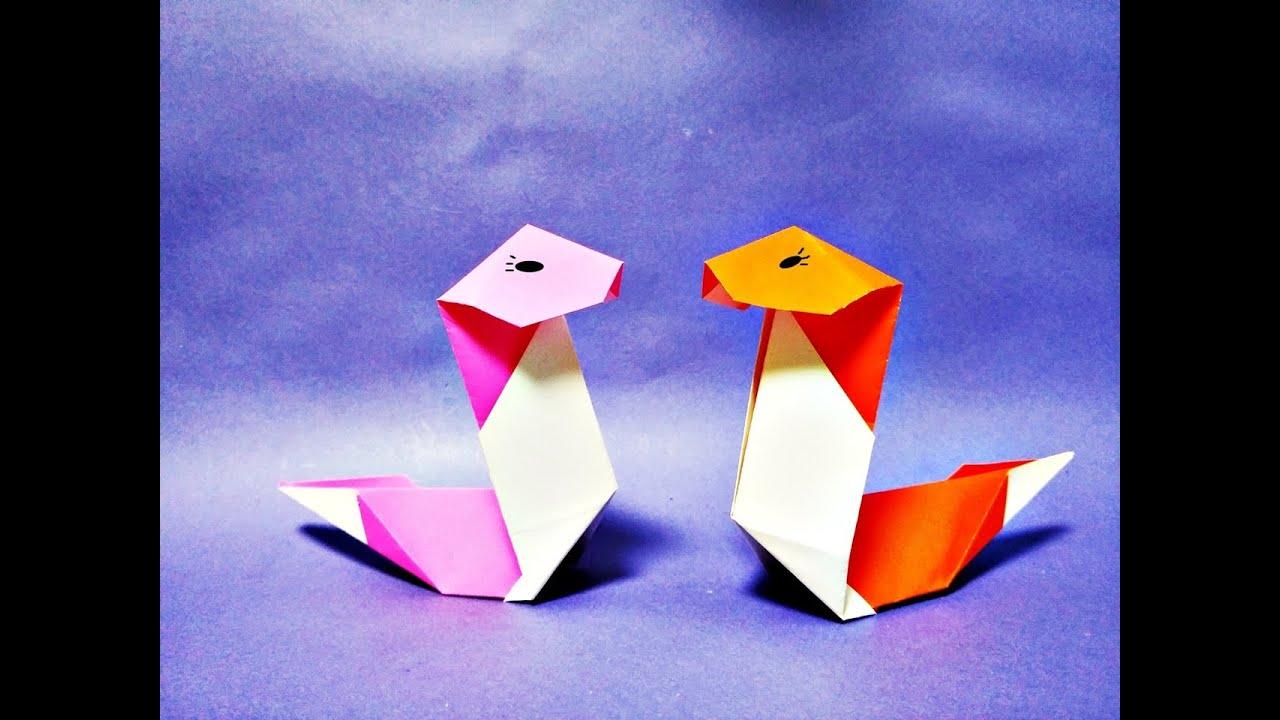 쉬운 뱀 종이접기 How to Make Easy Paper Origami Snake - YouTube - photo#22